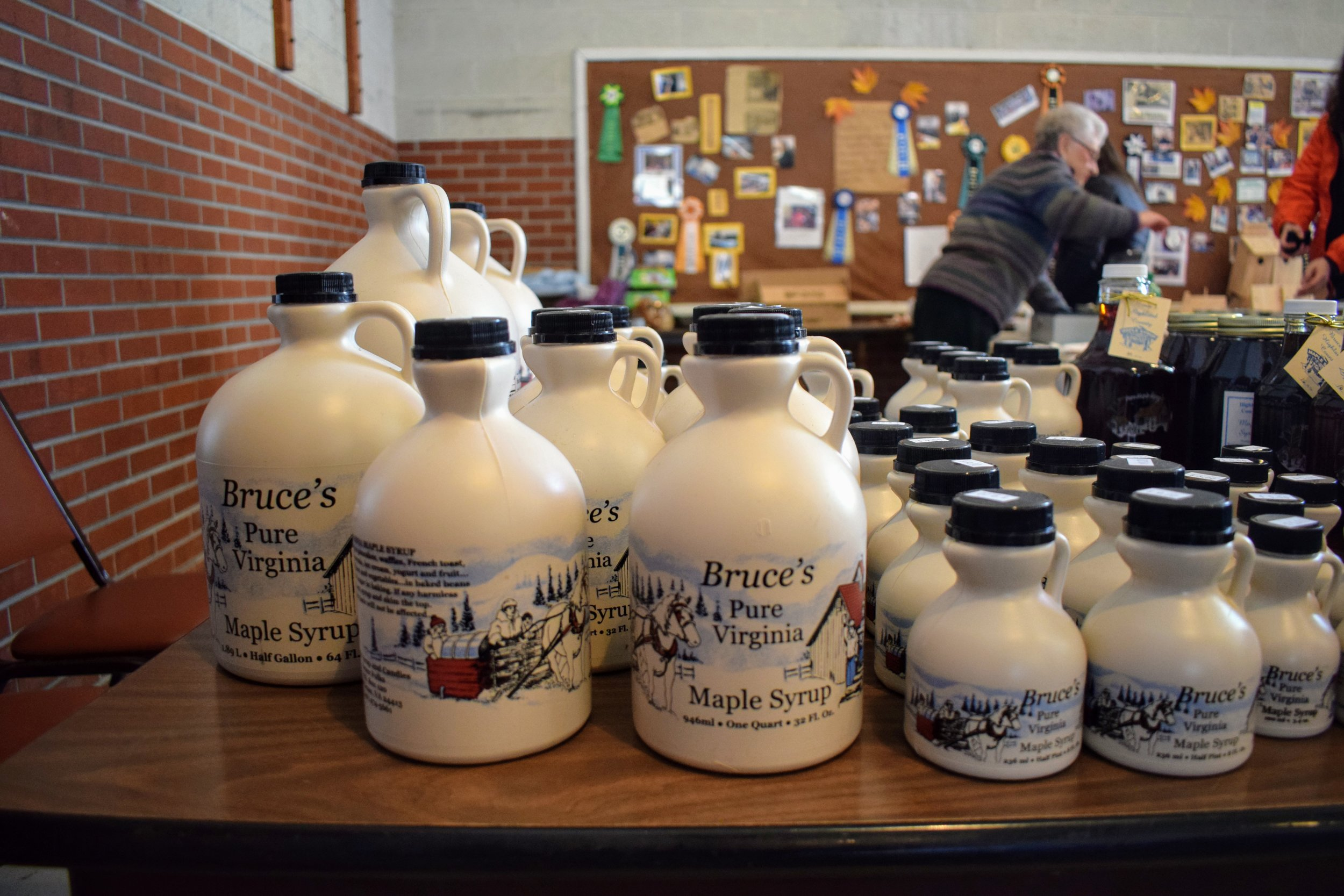Bruce's Maple Syrup for sale at Blue Grass Ruritan.