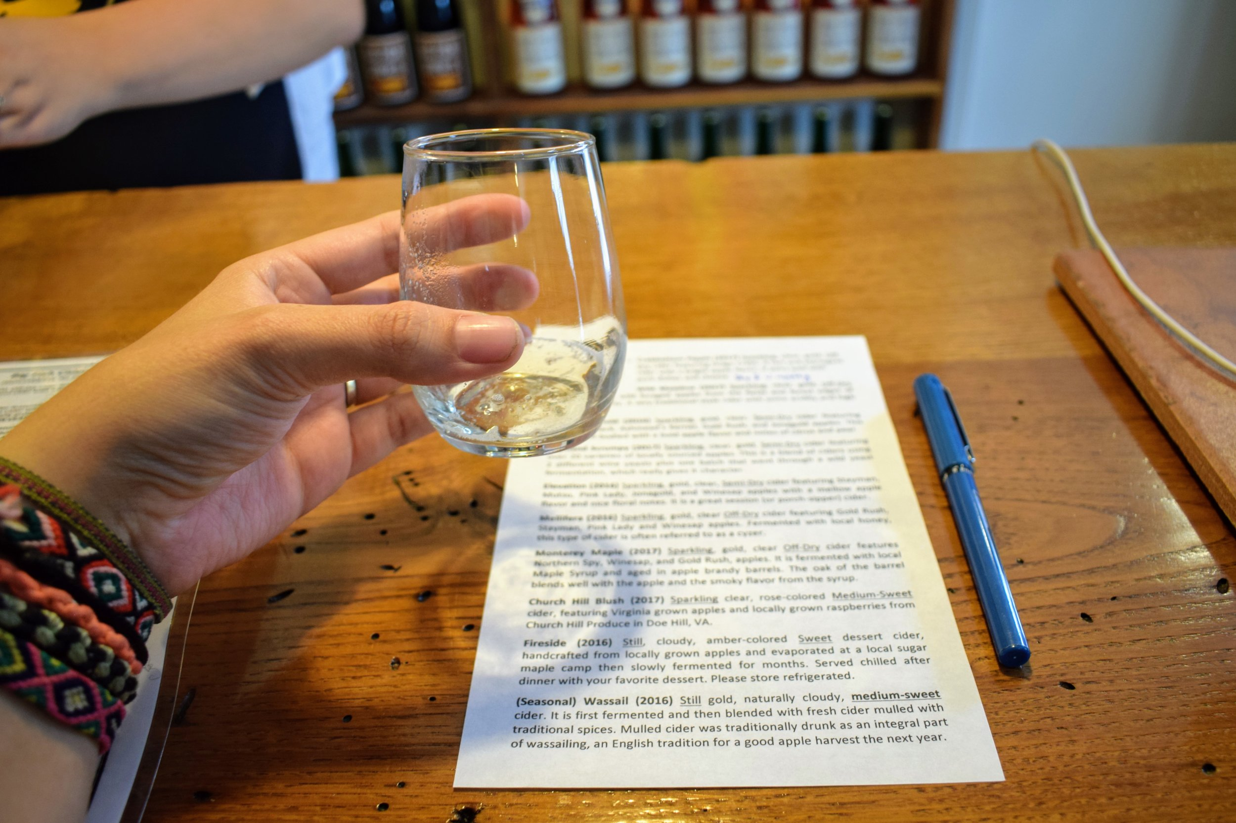 Cider tasting at Big Fish, Monterey's micro-cidery.