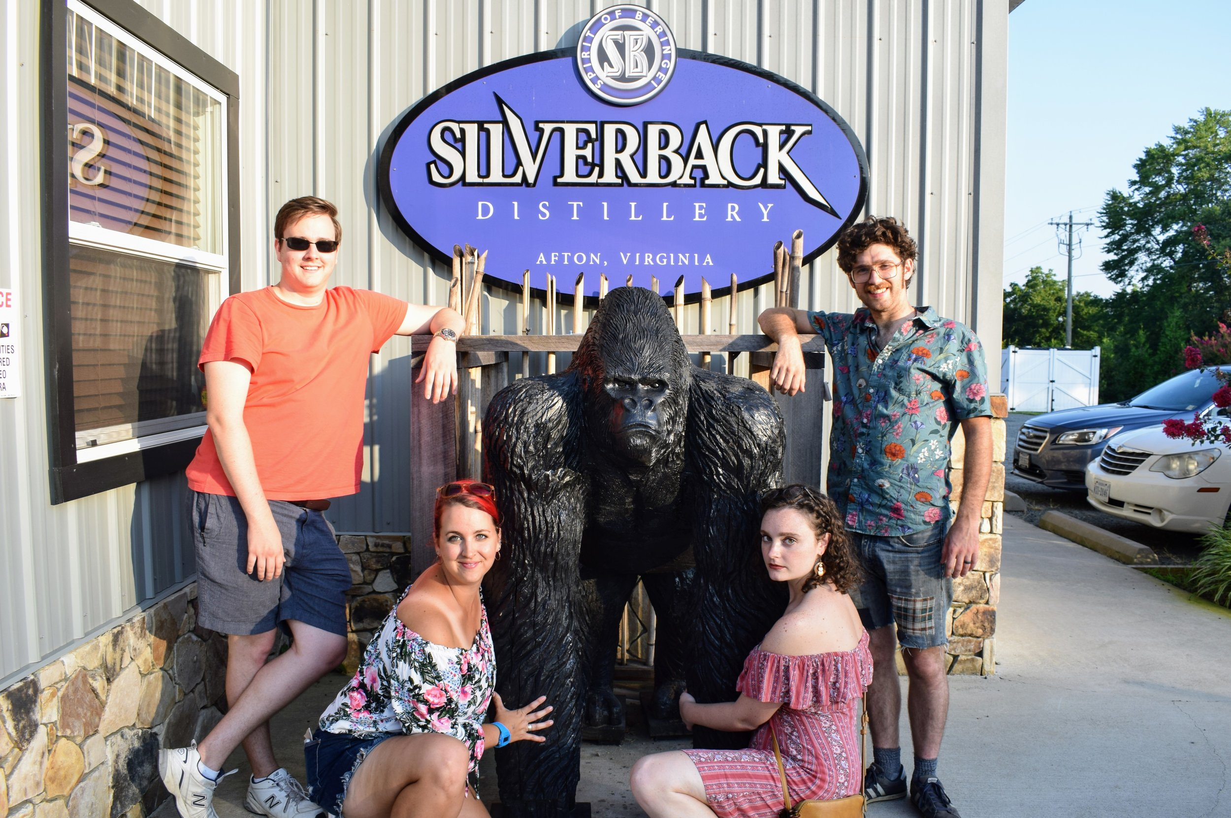 Me, Emmett, CJ, and my brother Dylan couldn't resist taking a picture with the Silverback gorilla. Yes, I know that my tan lines are dramatic.