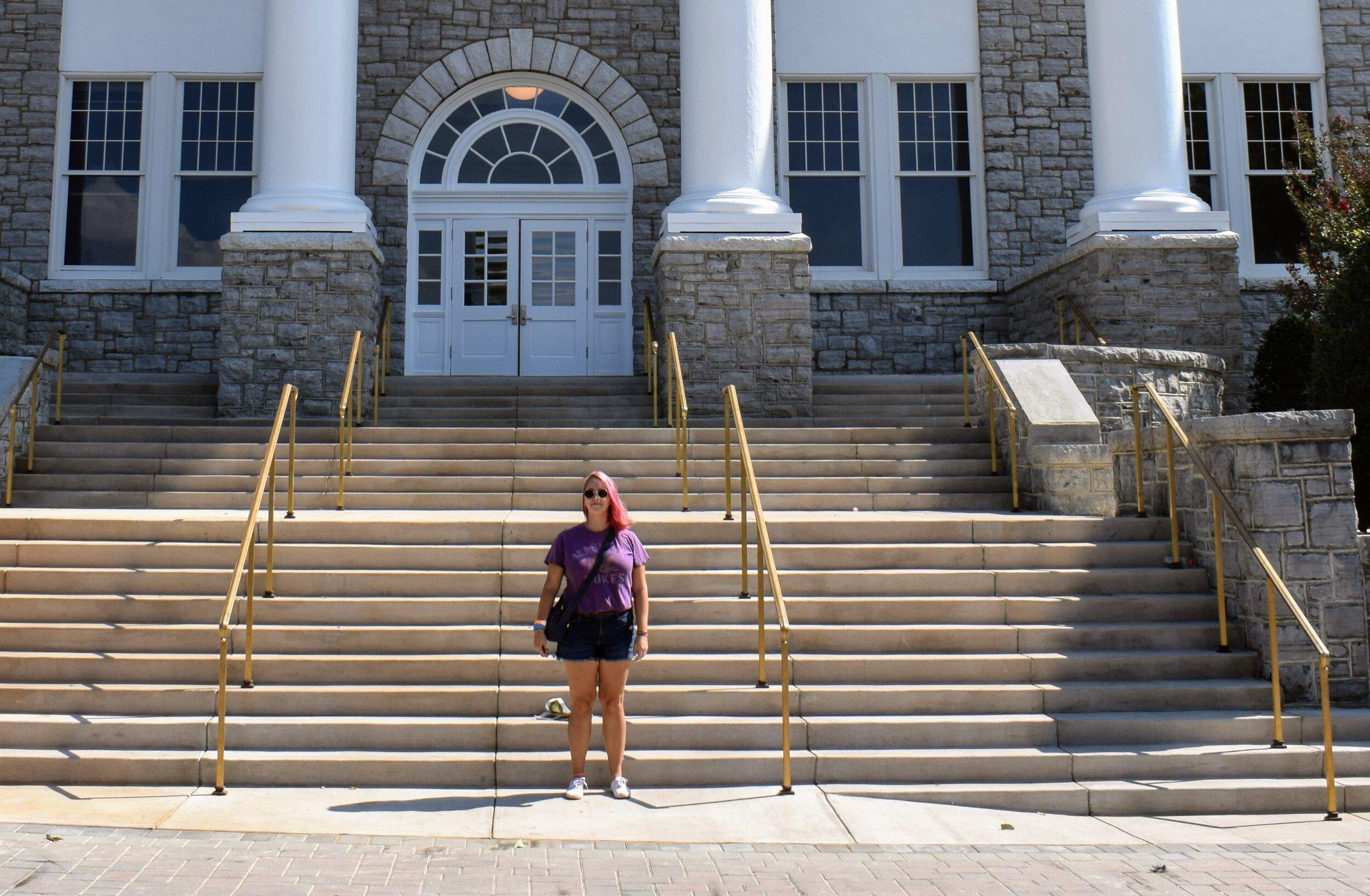 Reppin' my school… at my school // Wilson Hall Steps, JMU