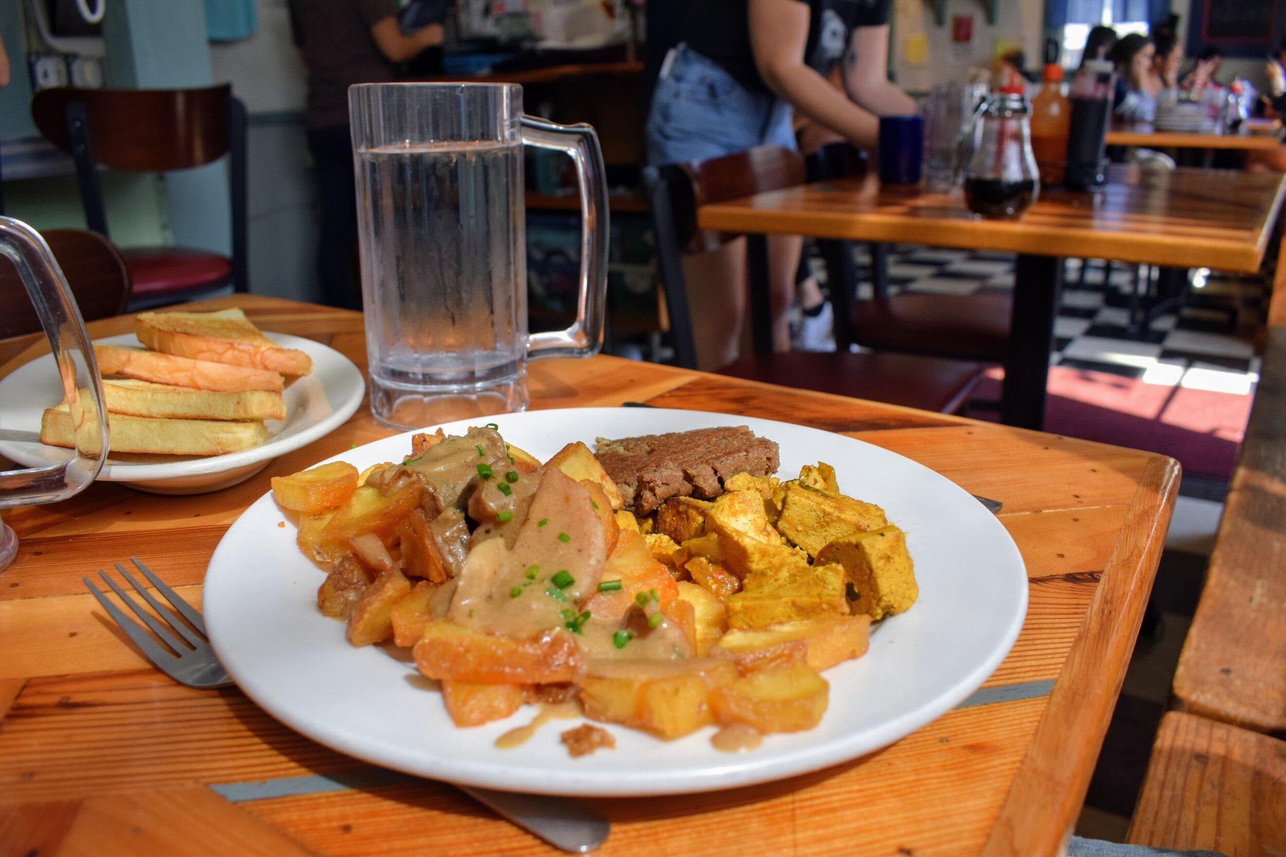 The Lambert's Platter vegan breakfast at Little Grill Collective.