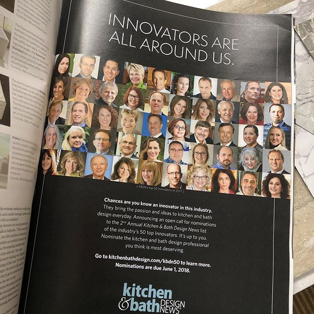 So thrilled for my dear friend @lmkinteriors for being featured in this month's Kitchen & Bath Design News as one of the top Innovators of 2017!