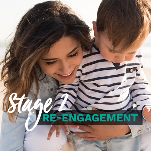 Supports re-engagement and preparing for a smooth return. Builds confidence and strategies to manage priorities at home and work.