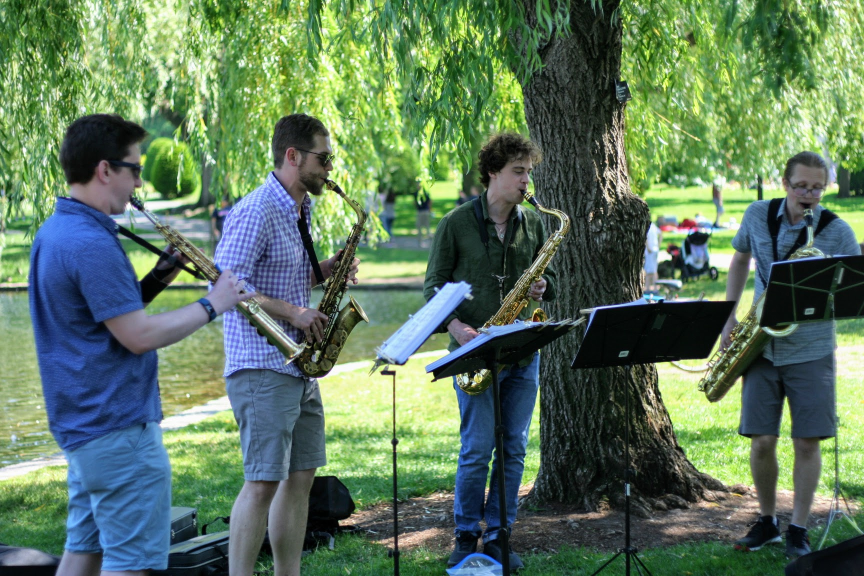 JPSQ in the Boston Public Garden