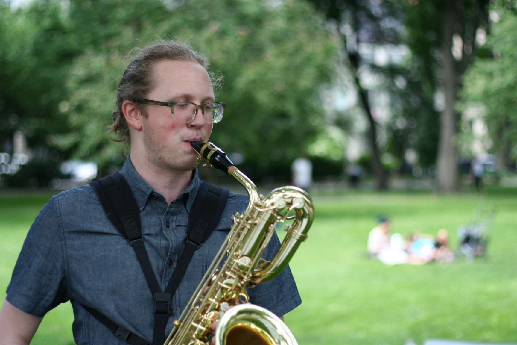 Performing in the Boston Public Garden