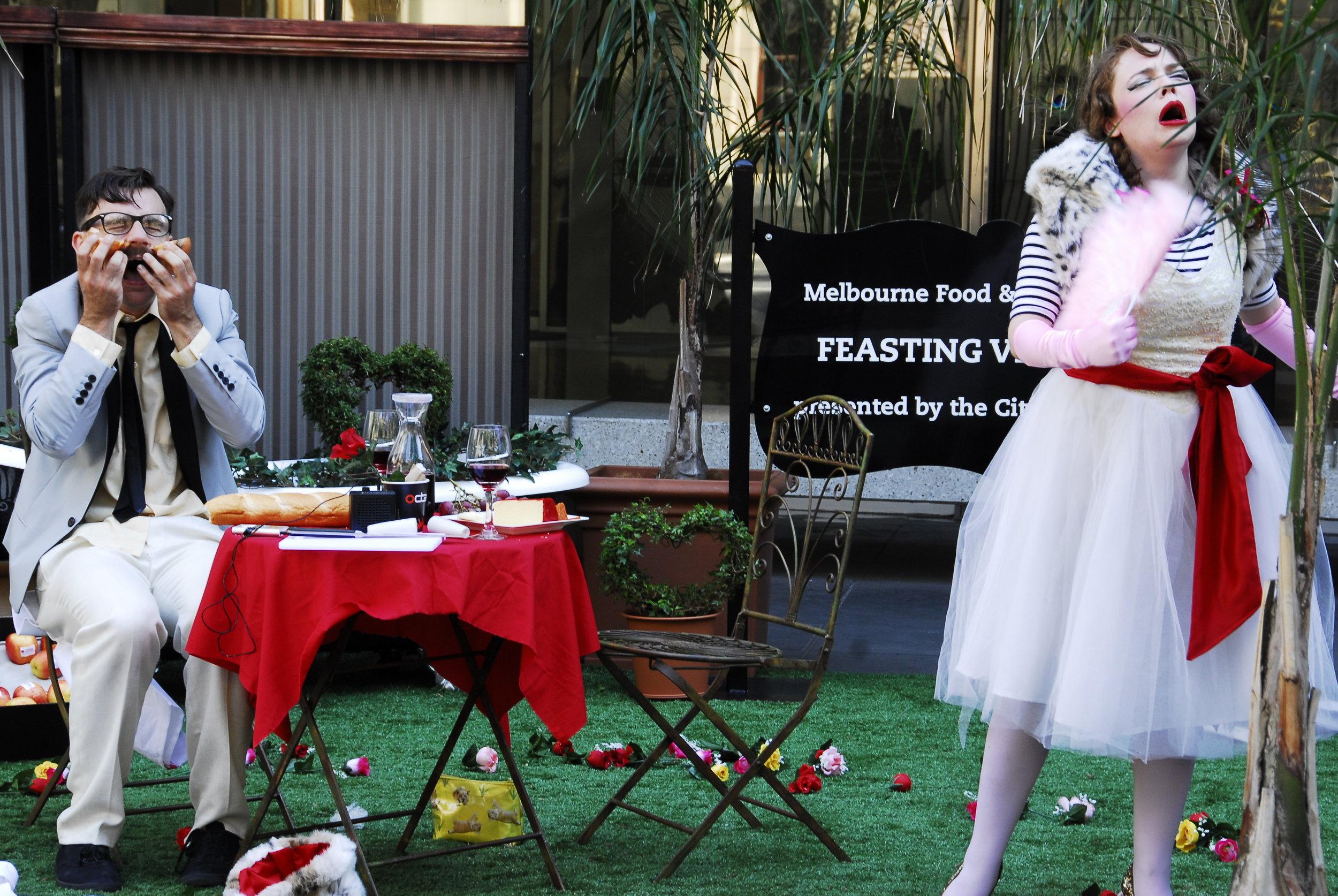 Feasting Vignettes  - pop-up event activations in Melbourne CBD
