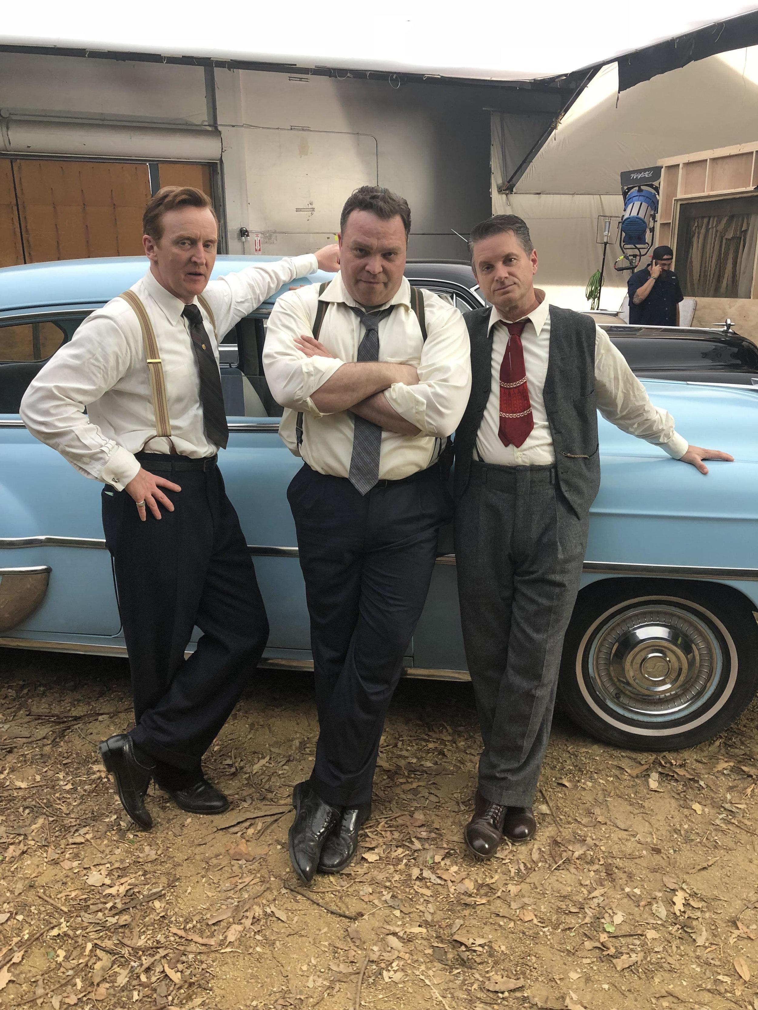 Cruisin' to do some bruisin. Tony Curran (Dudley Smith), Drew Powell (Detective Carlisle) and Shea Wigham (Dick Stensland)   Photo courtesy Drew Powell