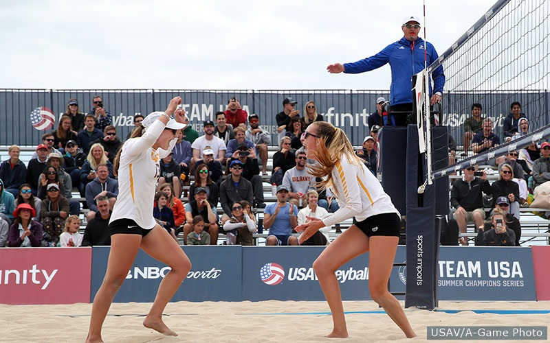 2018 USAV Collegiate Beach Champions Kristen Nuss and Claire Coppola of LSU.