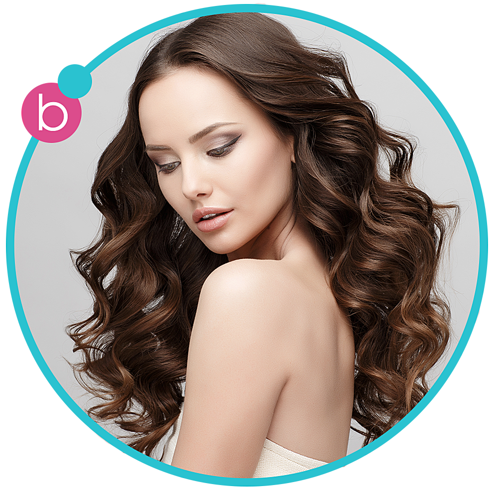 """THE GODDESS - big and voluminous    Make a bold statement with hair that's full   of volume and va-va-voom. Whether your   hair just needs a little oompf or is dying   to strut its stuff, The Goddess is the   """"big hairdo"""" do made just for you."""