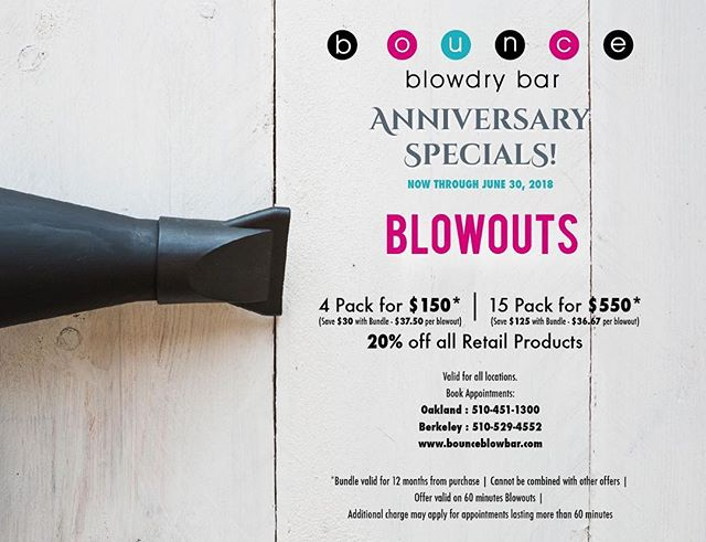 💕💕Come celebrate our Anniversary with Blowouts 💕 as low as $36.67 when you  buy a bundle💕🎉🎊