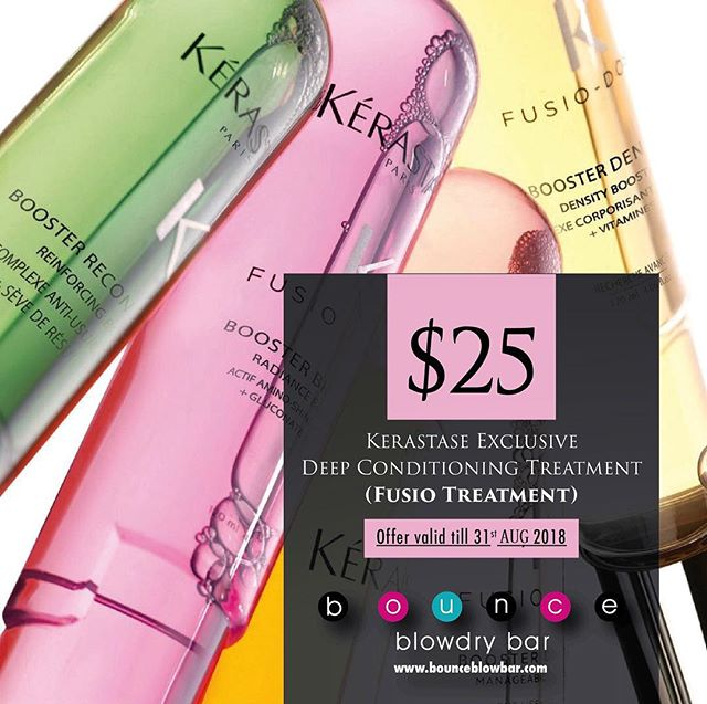 😍Enjoy Kerastase Exclusive Deep Conditioning Treatment- Fusio Concentrate and Booster - for only $25😍💕#bounceblowdrybar #kerastase #bouncebabes
