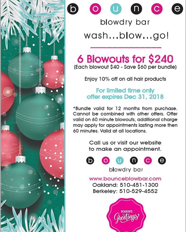 🎊🥂Happy Holidays 🥂🎊 💞🎁Enjoy each blowout $40 when you bundle the deal🎁💞 😍6 Blowouts for less than 5 blowout price😍