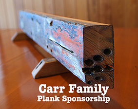 Thank you to Ann and Ross Carr from Eagle Point for their generous donation as a plank sponsor for P.S.Curlip Inc