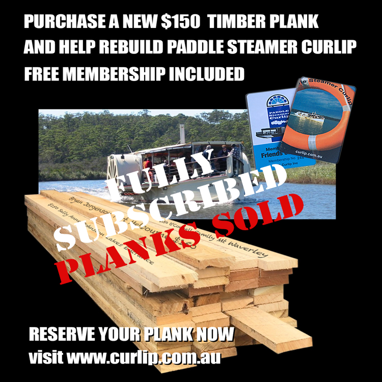 STOP PRESS With your amazing support and generosity all 150 planks on offer, are now sold. The fixing screws more than 6000 have been purchased a the planks will start to be applied to the hull. We have achieved what many said was impossible. Thank you to our supporters in the greater Gippsland and Victorian Community.