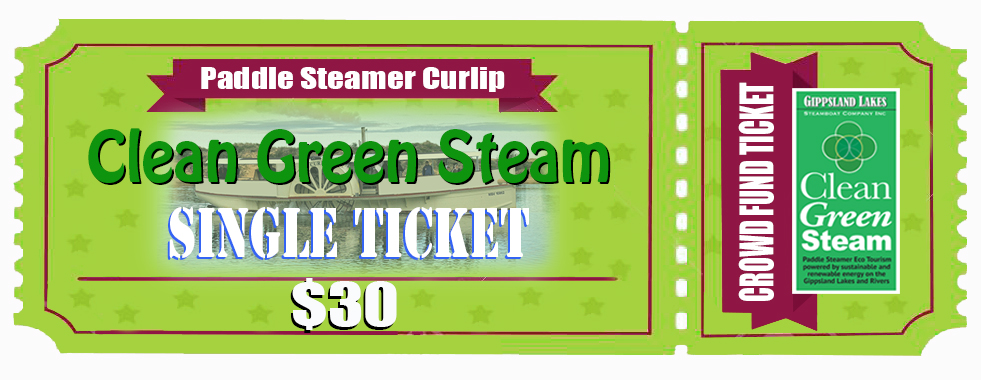 Hit the link below, to pre purchase a single cruise ticket on Paddle Steamer Curlip, from our secure online store. Your donation goes straight into our bank account via stripe, you receive an online receipt to confirm. Then we will send you your digital ticket and booking / reservation via your email in the coming week. All communication will be to your personal email that you provide. Thank you.