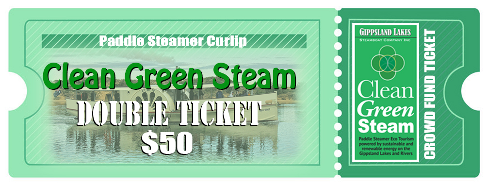 Hit the link below, to pre purchase a double cruise ticket on Paddle Steamer Curlip, from our secure online store. Your donation goes straight into our bank account via stripe, you receive an online receipt to confirm. Then we will send you your digital ticket and booking / reservation via your email in the coming week. All communication will be to your personal email that you provide. Thank you.