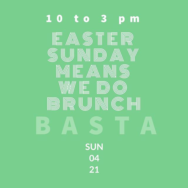 Easter Sunday WE BRUNCH!  Book your seat today. *** link in Bio ***