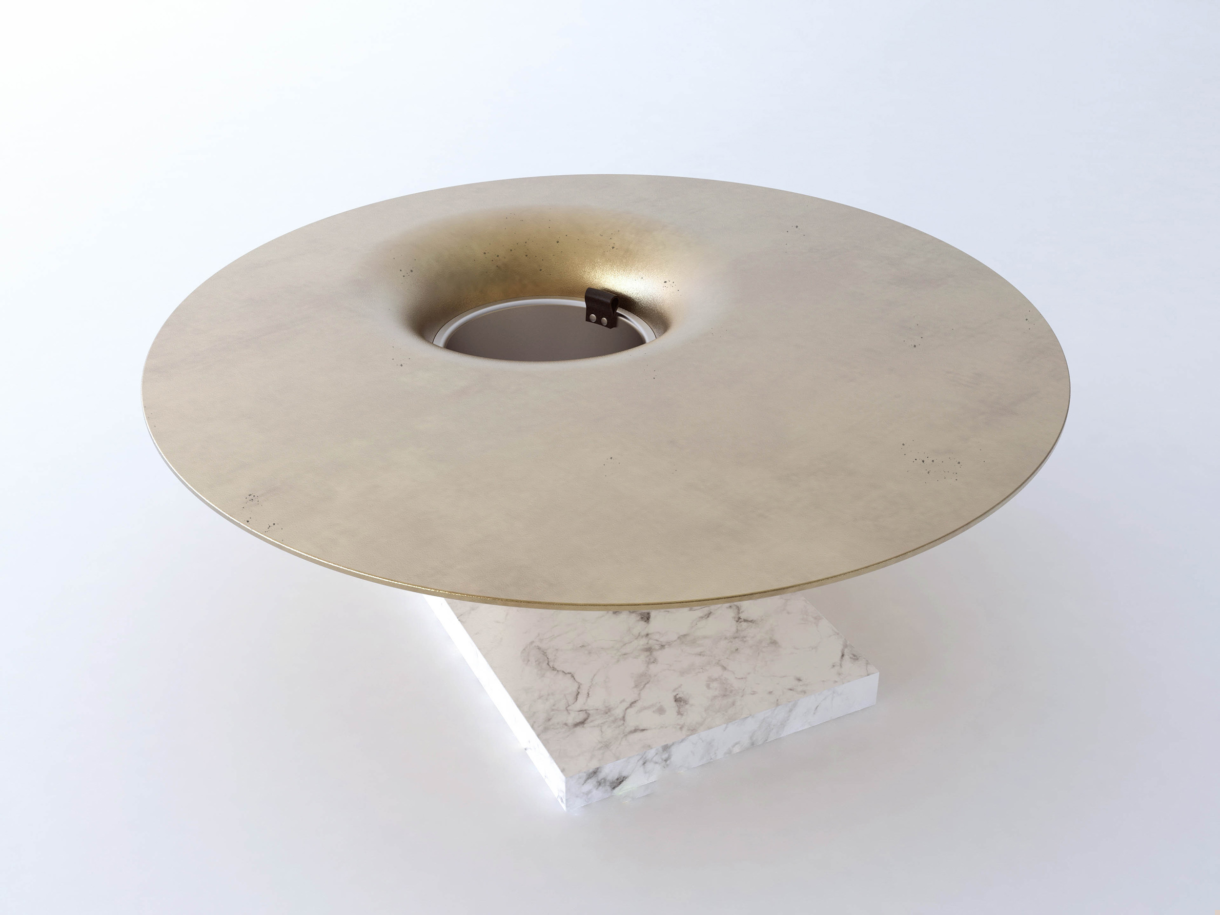 Champagne Table, Round, Render for client.