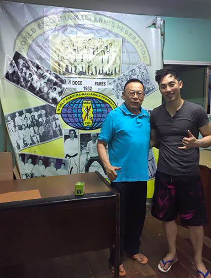 The gym is called Doce Pares, run by Dionisio Diony Canete