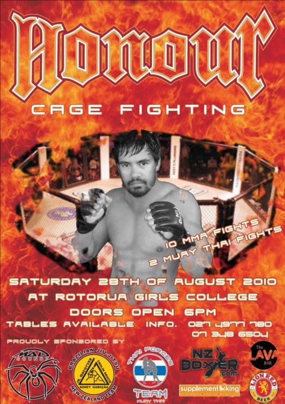 Honouring the Cage at Rotorua MMA Show
