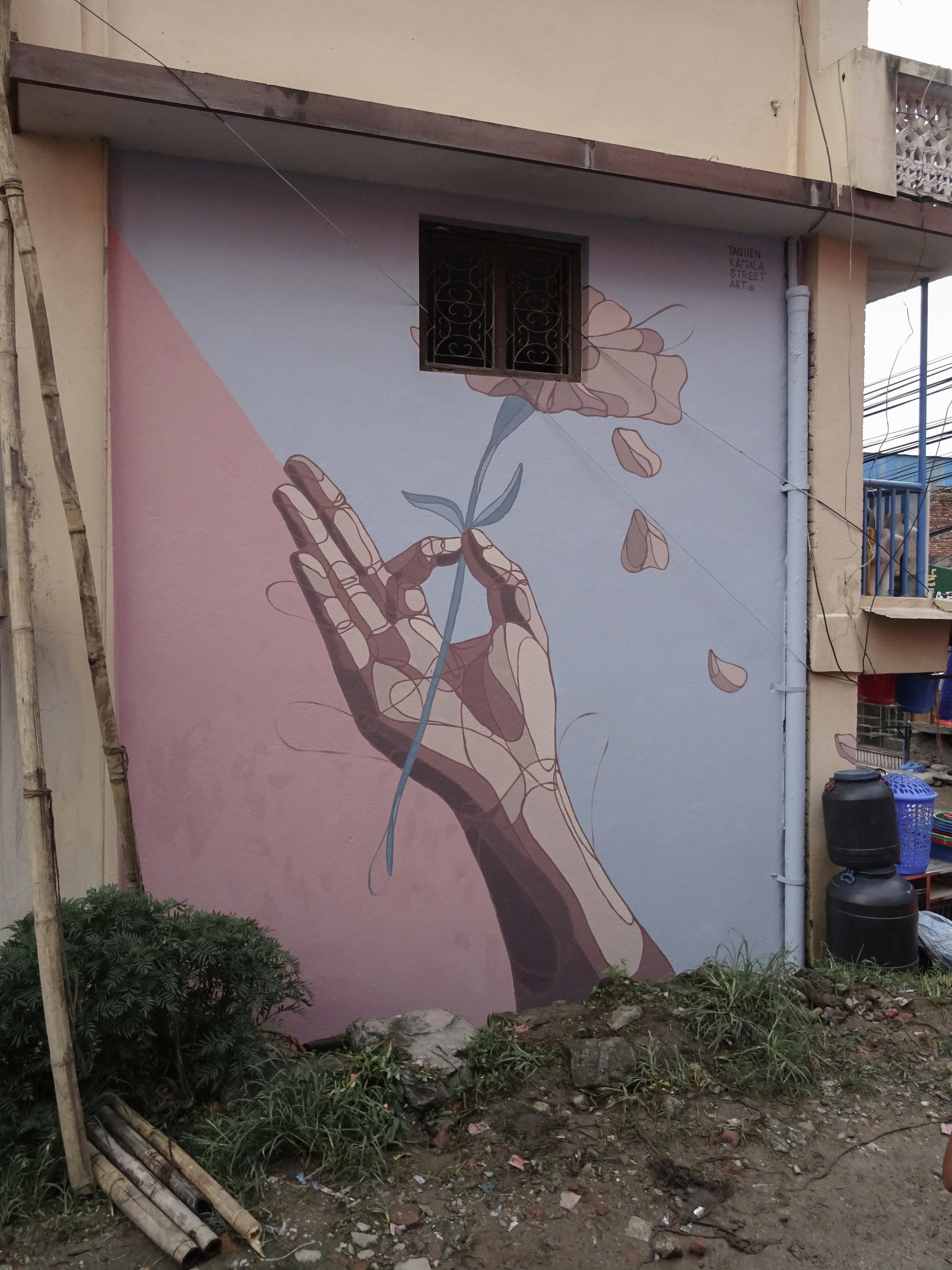 Kamala Street Art, Kathmandu, Nepal 2018.