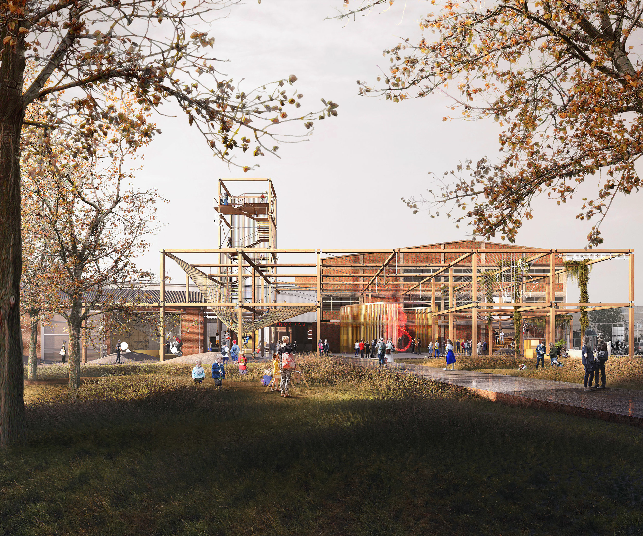 Slaughterhouse. Competition entry of a creative space in Hoslstebro, DK
