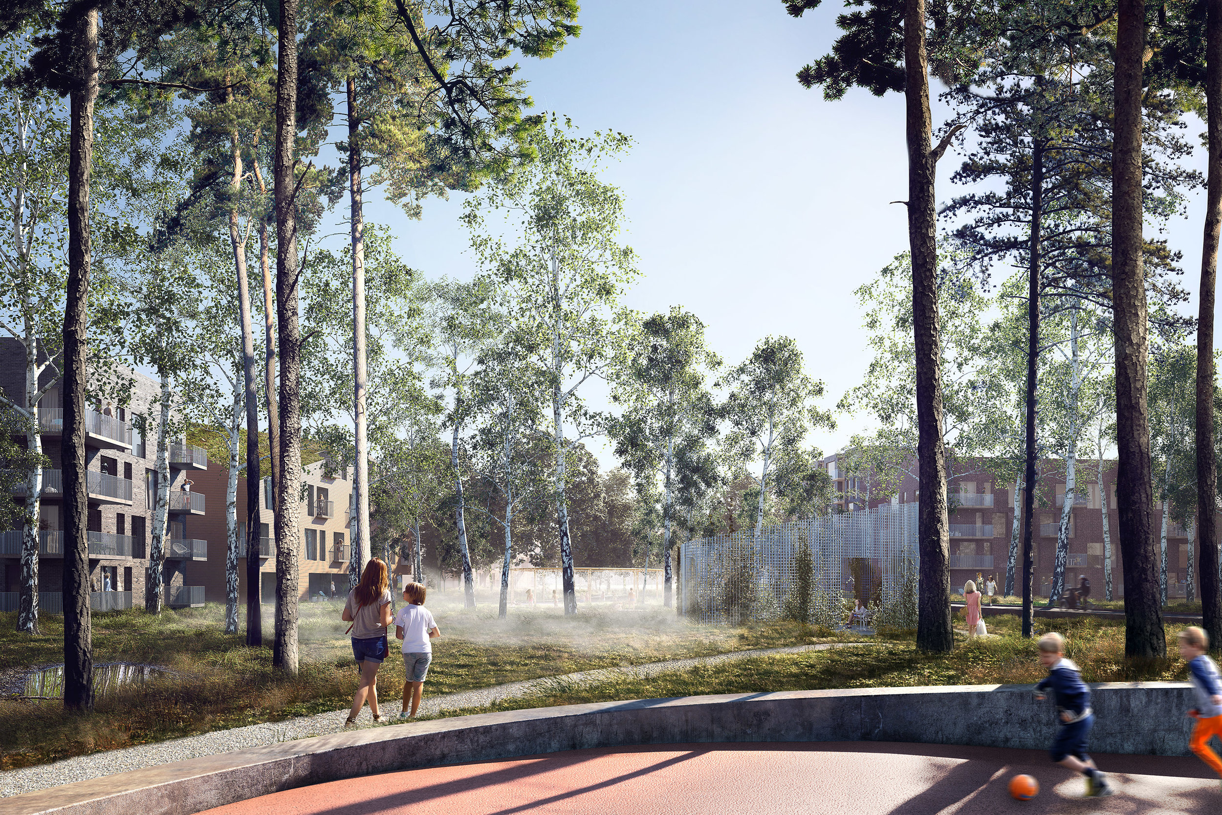 Slaughterhouse. Competition entry of a residential area in Hoslstebro, DK