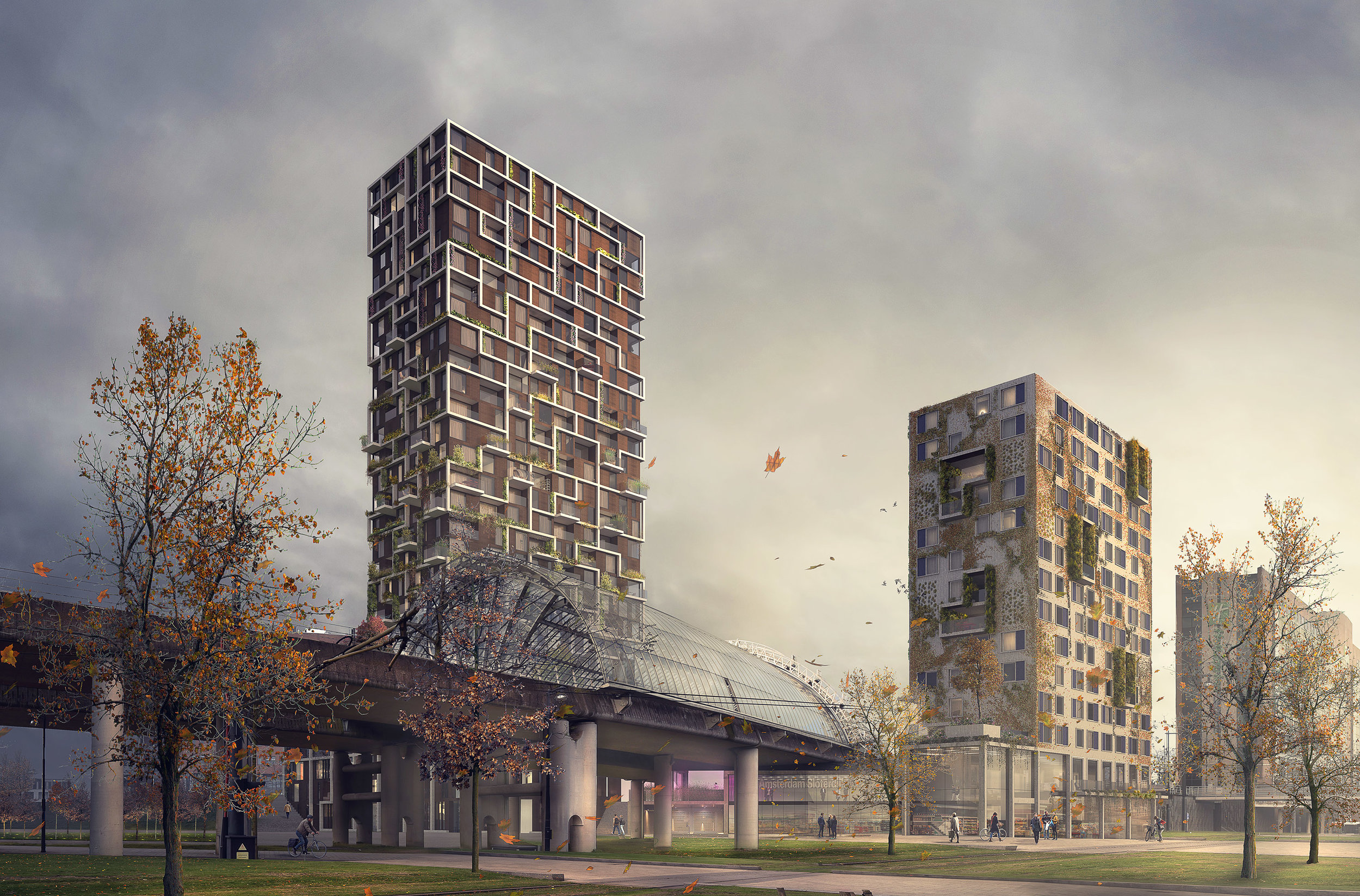 Kaval O. Competition entry of tower project in Amsterdam, NL.