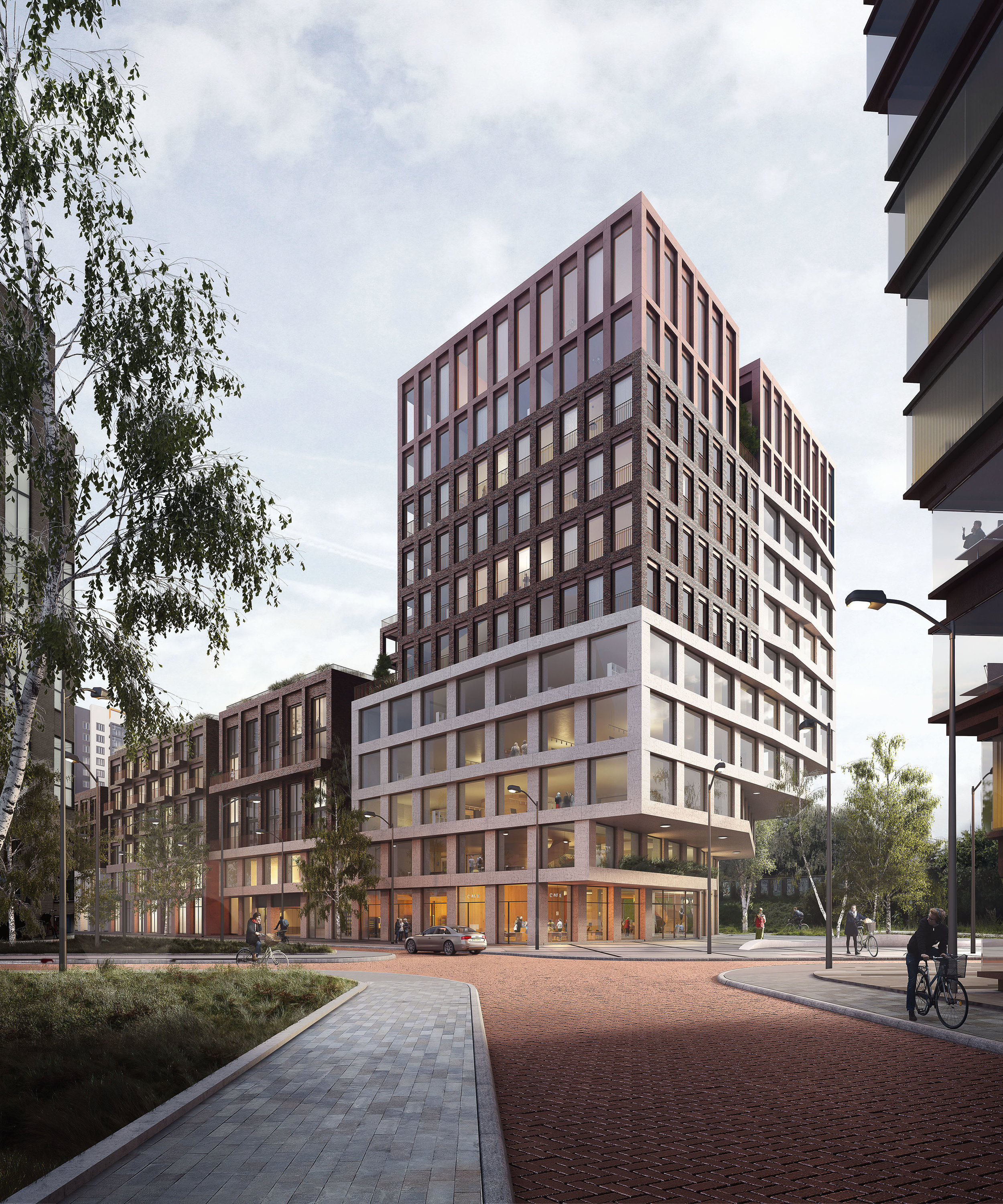 Kop Zuidas. Competition entry for the development of mixed-use buildings in Zuidas NL.
