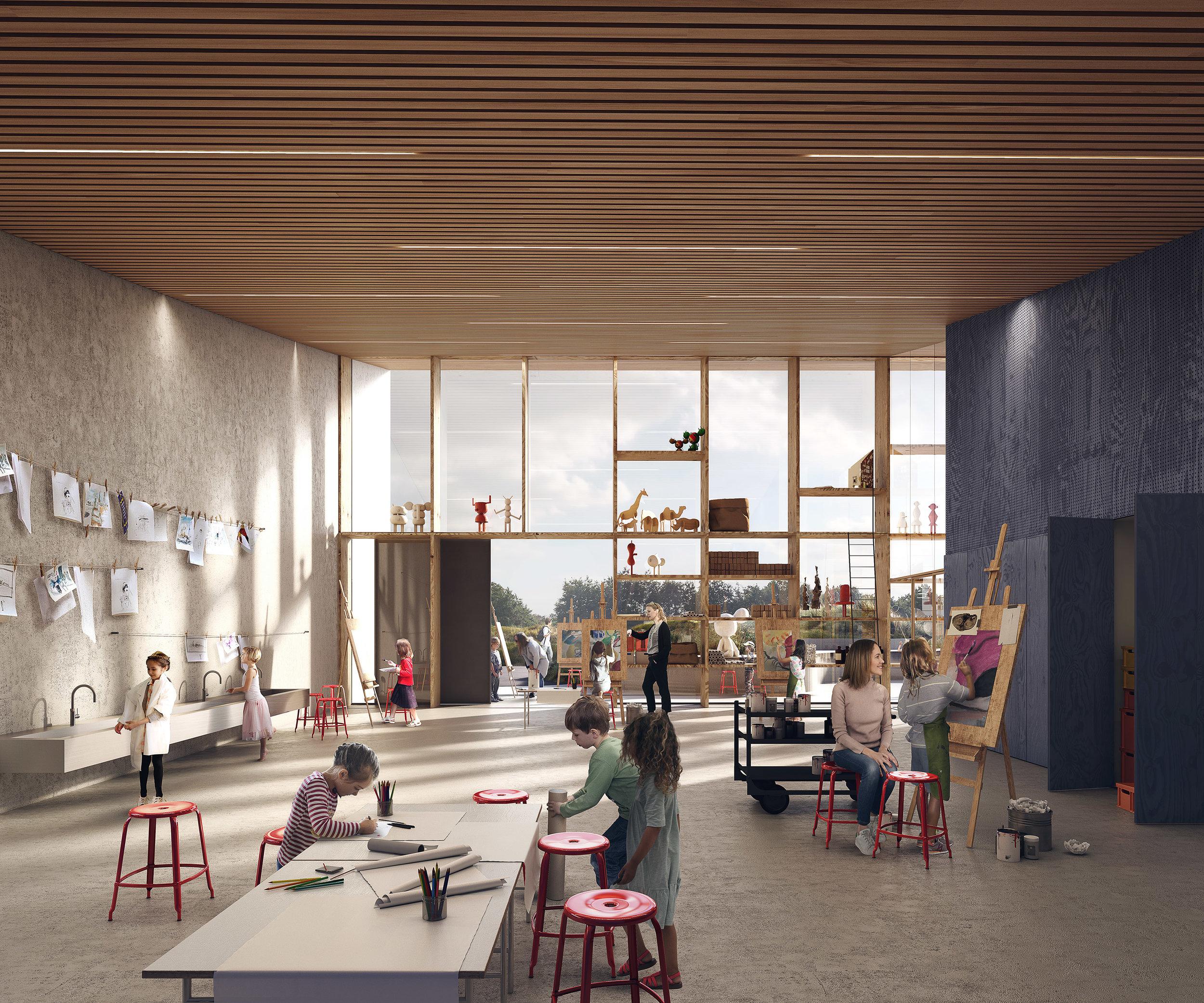 Skærbæk Skole. Competition entry of a school project in Tønder, DK.