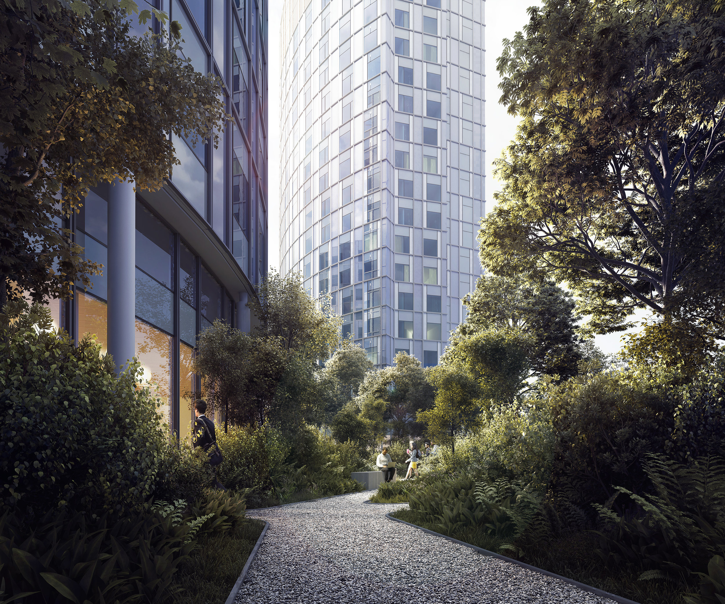 2Amsterdam, Holland - Garden View. Transformation of two office towers.