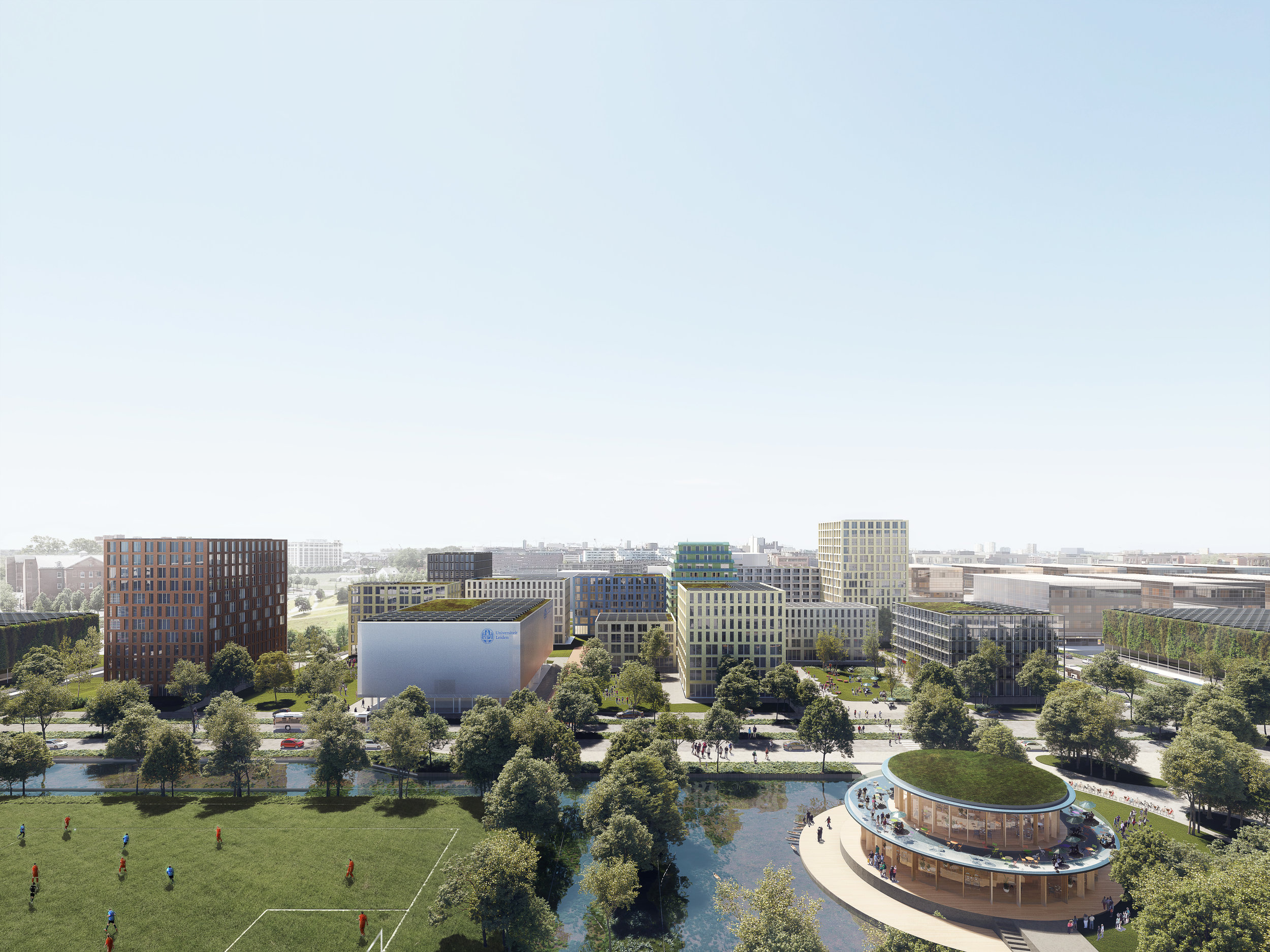 Leiden Bio Science Park. Aerial of housing project in Leiden, Netherlands.