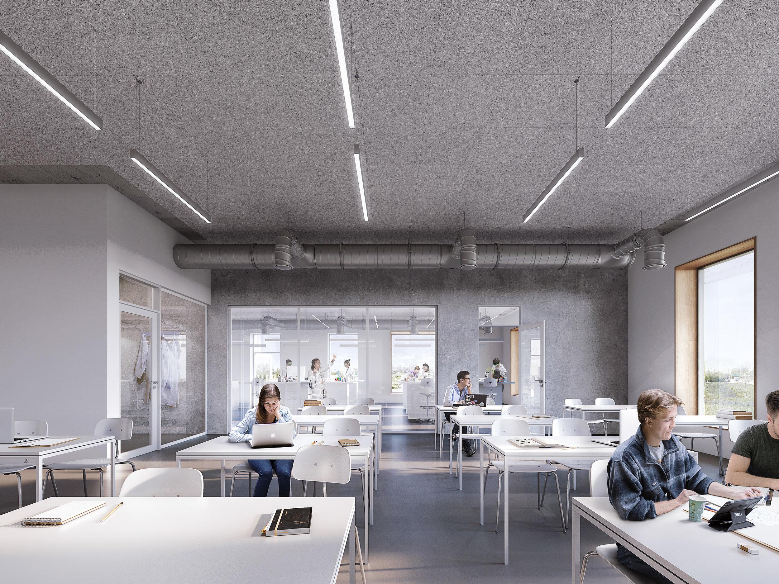 TEC Ørsted. Interior of a technical Highschool in Copenhagen, Denmark.