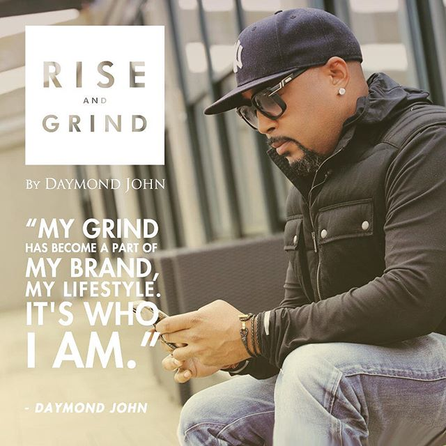 """My Grind has become a part of my Brand, my Lifestyle, it's who I am."" @thesharkdaymond  Double tap if your #Grind is a part of who you are 🙏🏽 Tag a friend that 'Grinds' this post is for my #Hustlers 💪🏽 • • • • #RiseAndGrind #hustle #brand #lifestyle #work #entrepreneur #daymondjohn #thesharkdaymond #fubu #mogul #puma #business #mondaymotivation #riseandgrindbooktour #riseandgrindbook #motivationmonday #instagood #quoteoftheday #photooftheday #sharktank #FloodSociety #CHH #HipHop #Music #Wave 🌊 #seattle to #newyork 👊🏽💥🔥"