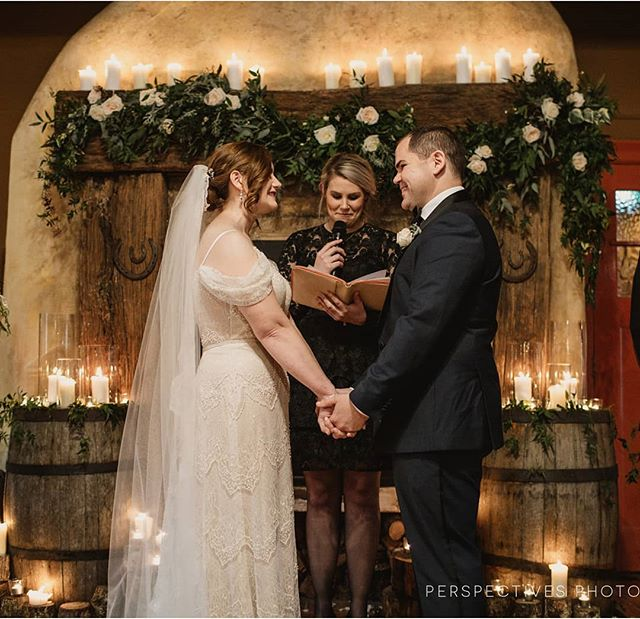 This gorgeous image from Kate and Robert's winter wedding at @kumeuvalleyestate, captured beautiful by @perspectives_nz. The perfect venue for a cosy winter ceremony. #candlelove #beautifulambience #winterwedding