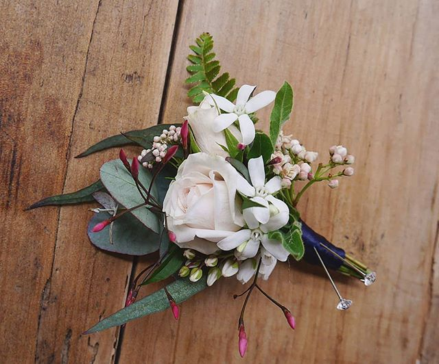 This cute bout for Groomy Chris #groomstyle #dapper #boutonniere