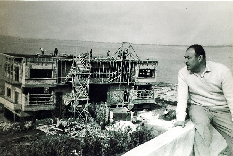 The first KOBAYTER factory being built in North Lebanon in the 1950s