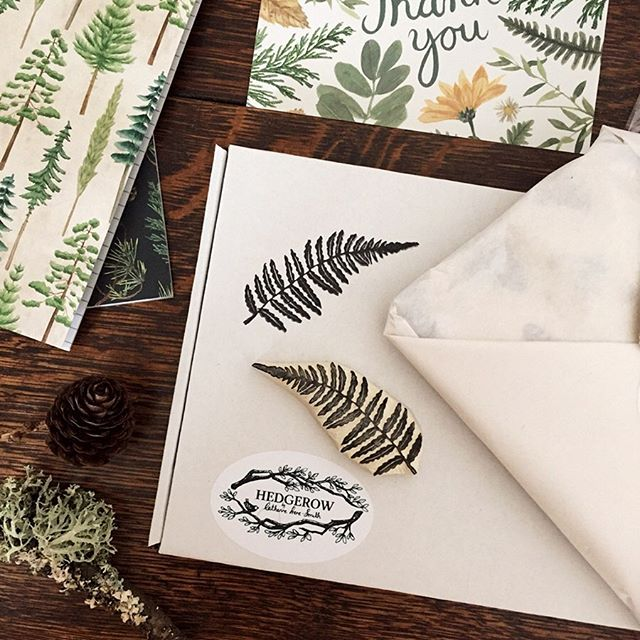 Enjoying using my beautiful new stamp from @enchantingstamps on all your new orders!  I can't get over how perfectly detailed these stamps are and they are completely hand made!! Head over to Jessica's feed for lots of lovely images of her nature themed stamps! #nature #handmade #ferns #botanical #carving #stamps #stampmaking #naturelovers #packaging #smallbiz #smallbusiness #independentbusiness #leaves #indibiz # #shopsmall #makers #makersgonnamake #themakers #craftexposure
