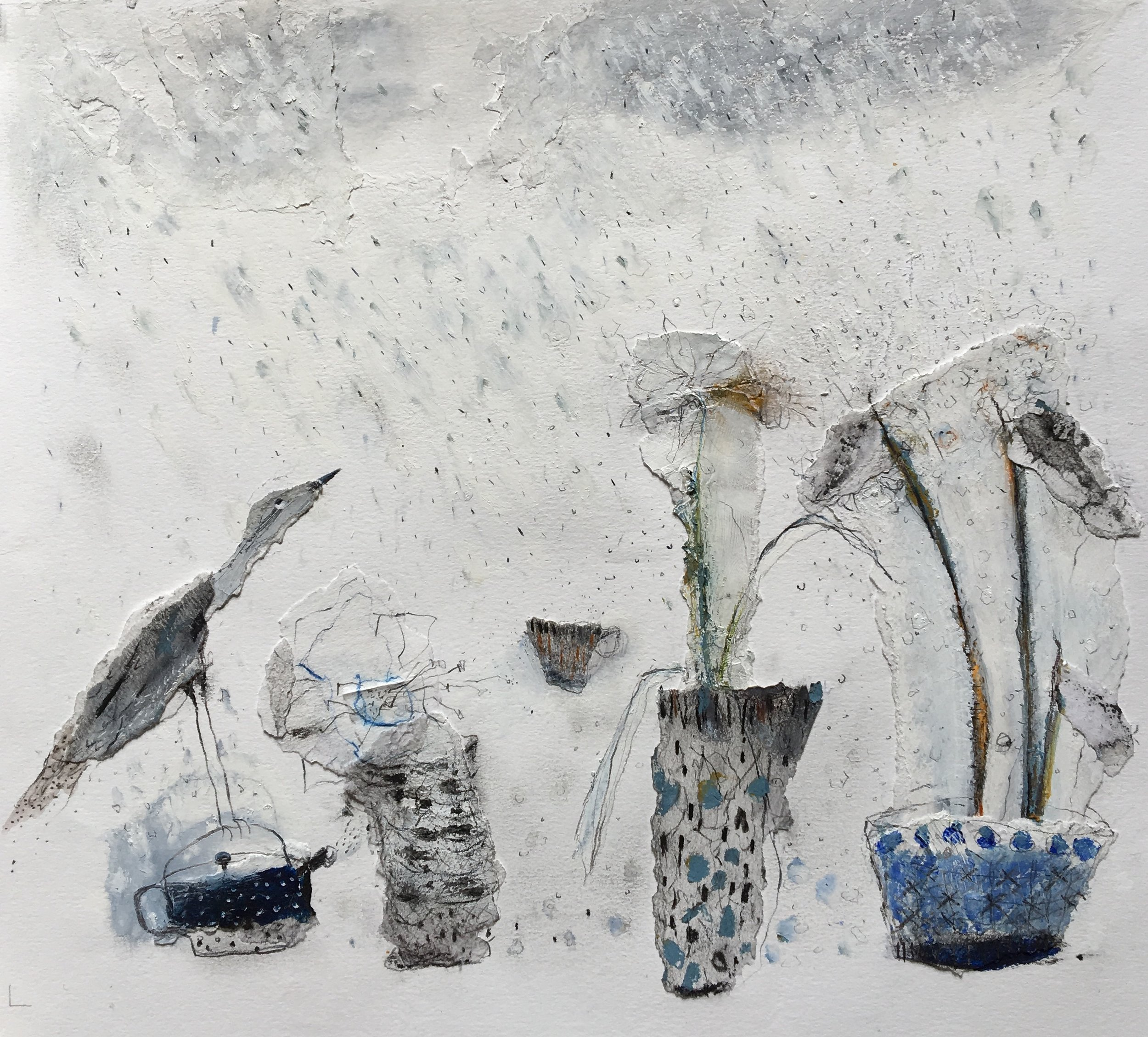 Snow-flowers. SOLD.