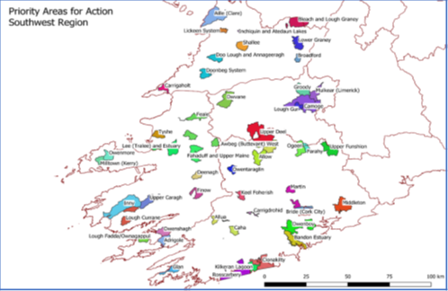 Areas for Action across Kerry Agribusiness Milk Supplier Catchment.