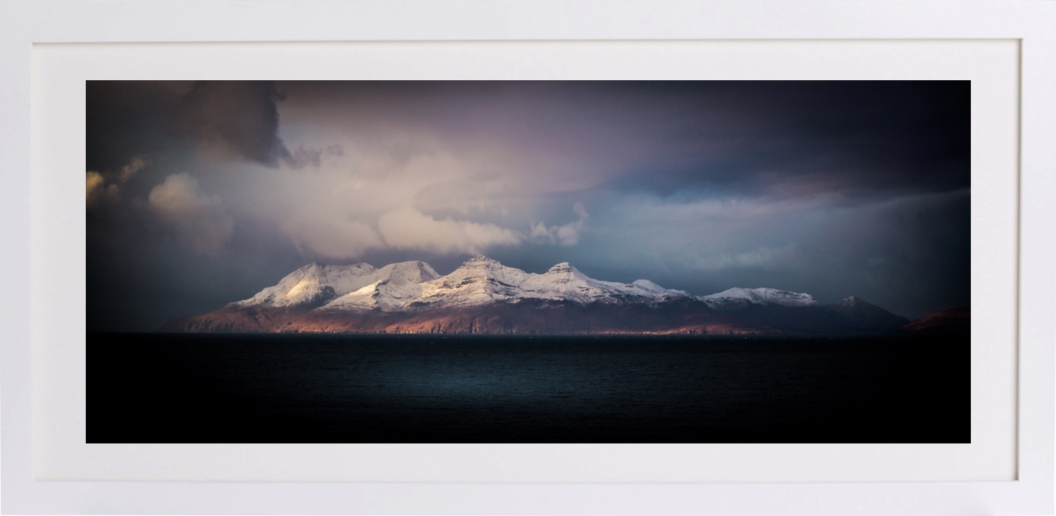 'Wish we were there now' - This image of the isle of Rum covered in snow just brings back to us the feelings we get when we visit that part of the world. Alan & Sharyn Ramage, Livingston.