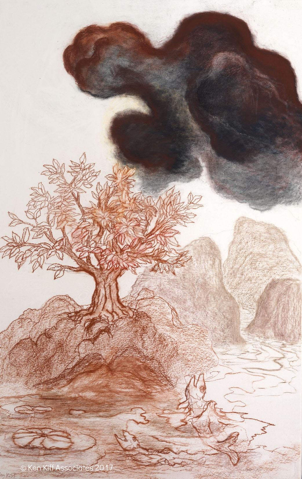 Ken Kiff - Fish, Tree and Dark Cloud