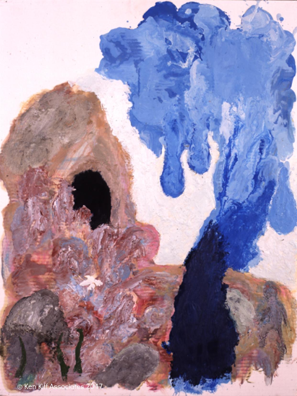 Ken Kiff - Untitled, Encaustic Painting (1999)