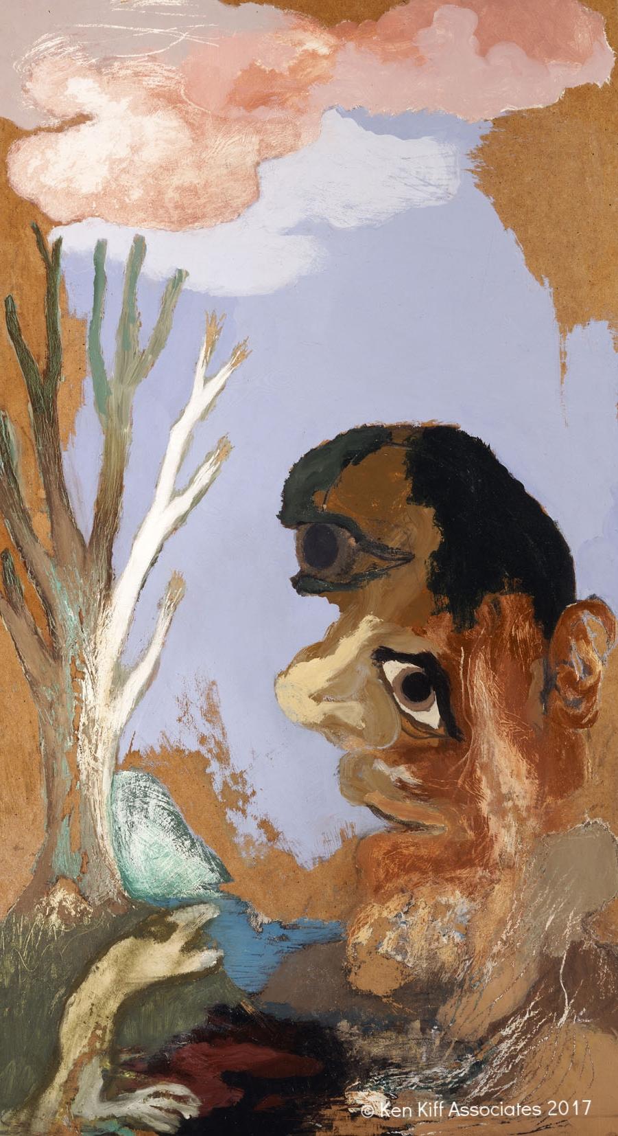 Ken Kiff - White Tree, Large Face