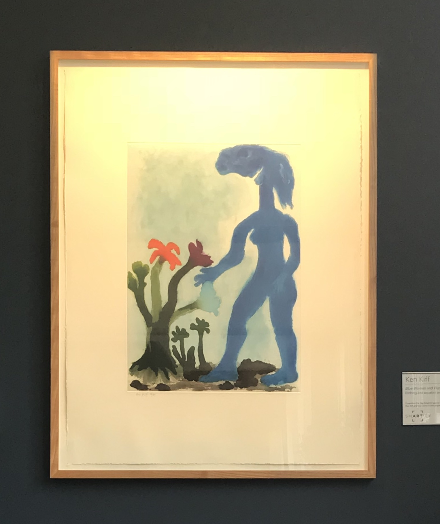 Blue Woman and Plant, 1996