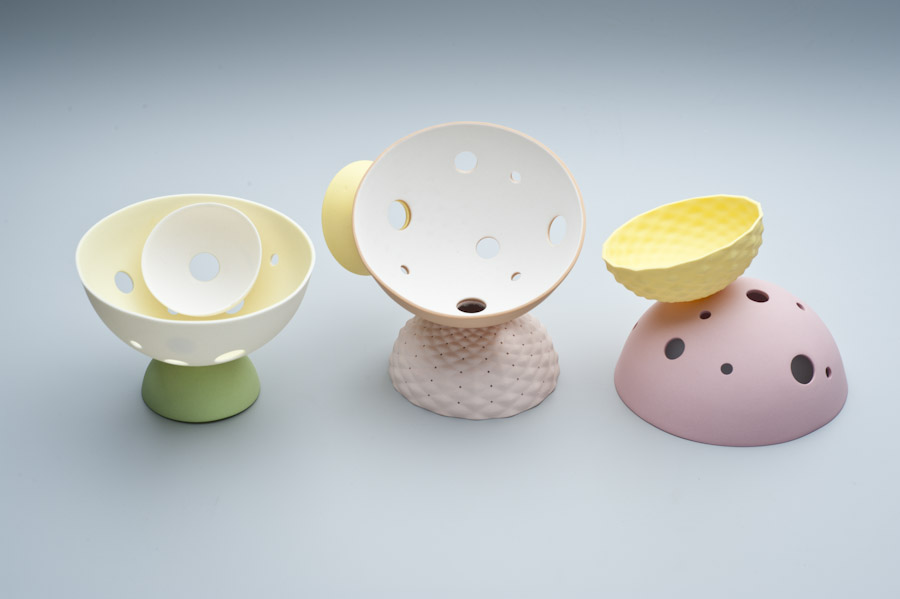 2010 Pink Series   imperial Porcelain, Stain, Glaze.