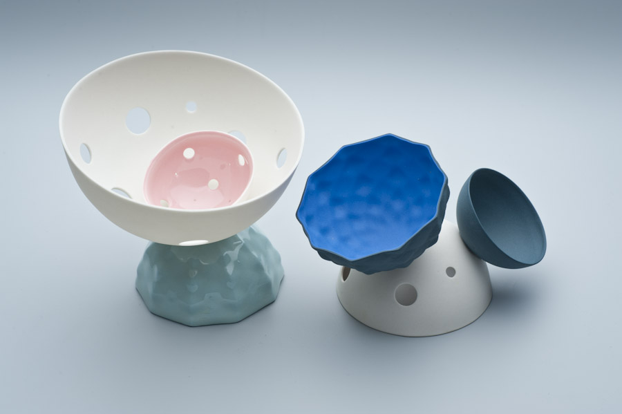 2010 Blue Series   imperial Porcelain, Stain, Glaze.