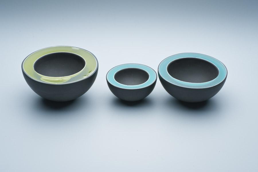 2010 Resin Bowls   imperial Porcelain, Stain, Glaze, Resin.