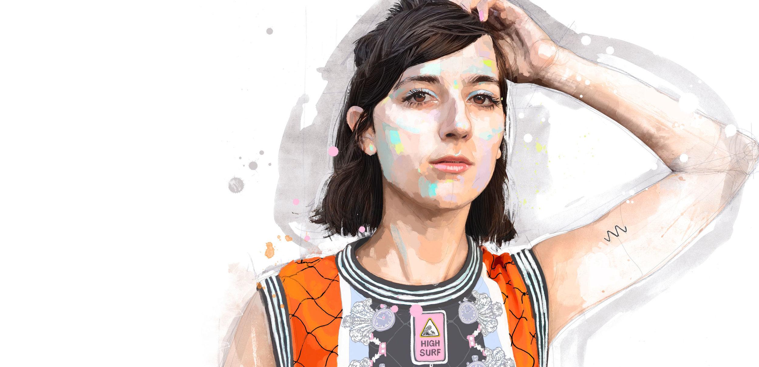 Elizabeth Rose - Portraits Group Show The Brick Lane Gallery London