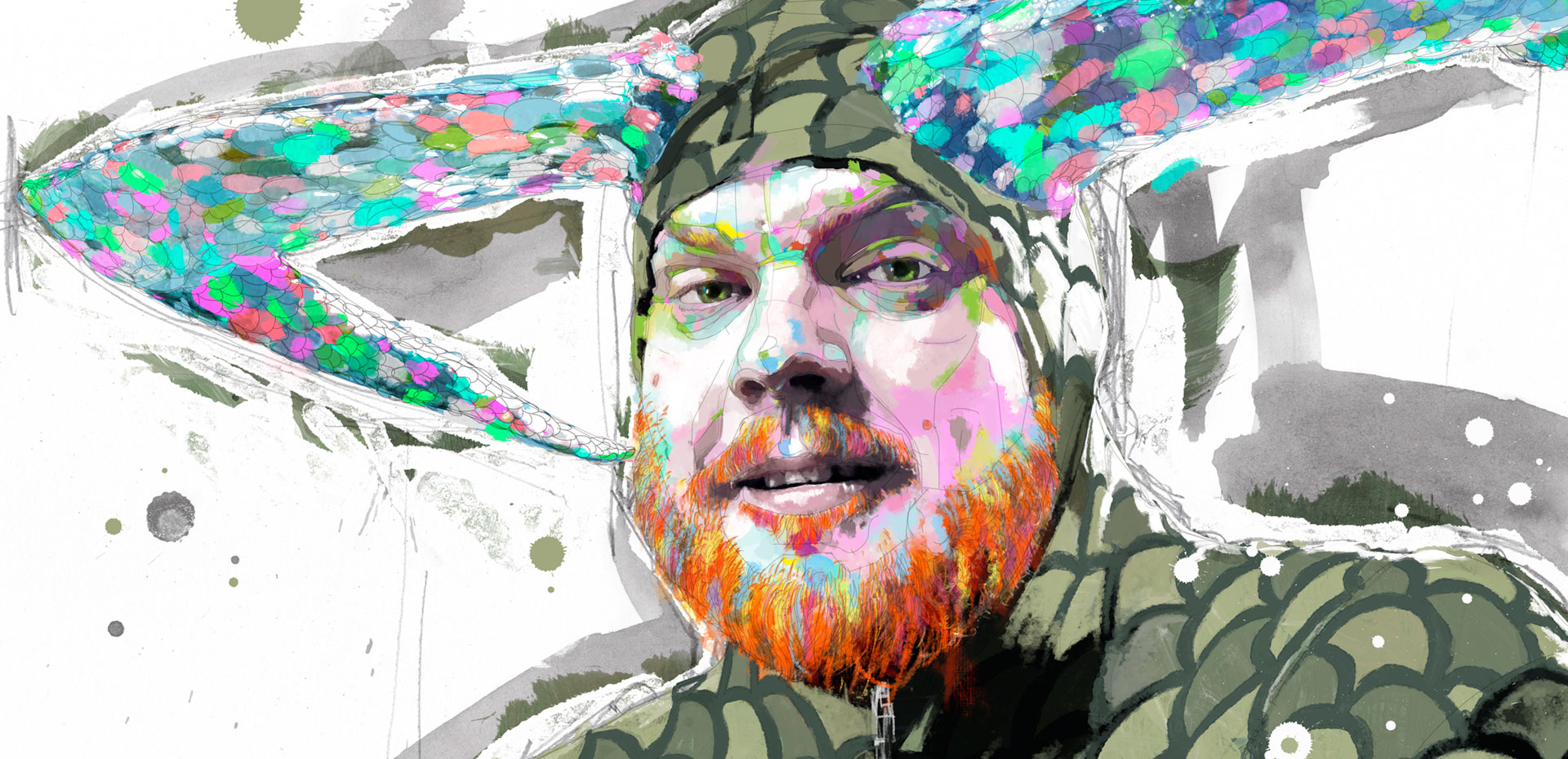 Brandon Bear - Portraits Group Show The Brick Lane Gallery London